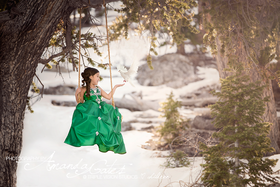 Bella in the snow lee canyon las vegas child photographer
